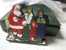 Shelia's Heartsville Christmas Carolers Wooden Shelf Ledge Sitter 1999 New