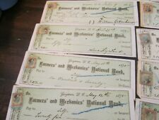 DEALER LOT OF 13 FARMERS AND MECHANIC'S BANK OF GEORGETOWN;DATED 1874- 1875