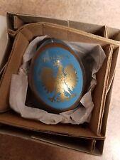 New Handcrafted Polska Blue Wooden Egg