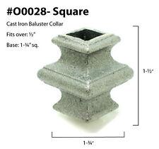 """Dozen 1/2"""" Square Collars O0028"""