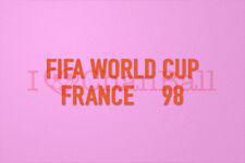 FIFA World Cup FRANCE 1998 Orange Polyflex Soccer Patch / Badge
