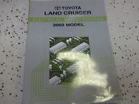 2003 Toyota LAND CRUISER Electrical Wiring Diagrams Service Shop Repair Manual