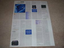 Threshold T400 Class A Amplifier review,1995,4 pgs,RARE