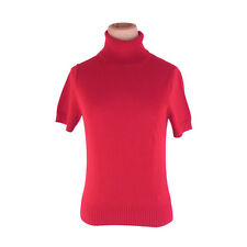 Burberry knit Red Woman Authentic Used F1279