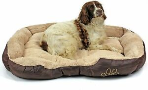 Dog Bed Soft Warm Mattress Washable Faux Fur Extra Large Brown