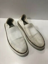 UGG Sammy Chevron Slip On Canvas Trainers Pumps Shoes Off White 8 UK