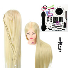 "30"" Training Head Mannequin Doll Hairdressing + Hair Braid Tools Sets & Clamp UK"