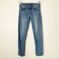 American Eagle AEO Light Wash Skinny Jeans Women's Size 4 Mid-Rise