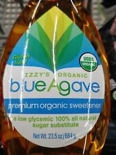 1 bottle Izzy's Organic Golden Light Blue Agave, 23.5 oz 664g best by May 2022