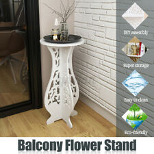 Modern White Round Coffee Tea Side End Tables Rack Stand Home Furniture Decor