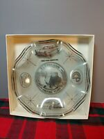 RARE 1977 FORD GLASS ASHTRAY/CANDY DISH  25th yr CLEVELAND ENGINE CASTING PLANT