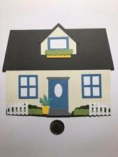 1 Large House Premade PAPER Die Cuts / Scrapbook & Card Making