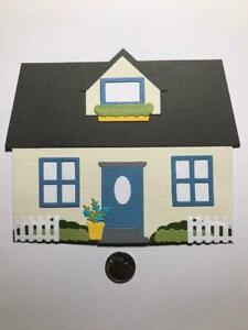 1 Large House Premade PAPER Die Cuts / Scrapbook & Card Making