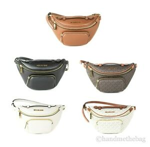 Michael Kors Erin Leather XS Waist Fanny Pack Crossbody Handbag Belt Bag