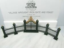 Dept 56 Heritage Village Wrought Iron Gate & Fence - 9 Piece #5514-0 - Retired