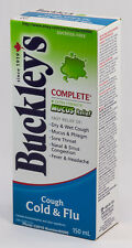 BUCKLEY'S COUGH COLD & FLU MUCUS RELIEF SYRUP 150mL (5oz) CANADIAN