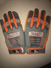 Franklin MLB Player-Issued Official Chrome Batting Gloves Jaimer Candelario XL
