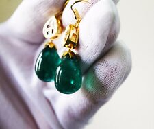 46.75 Ct Fine Natural Emerald Zambia Drops Pair UnTreated Loose Gemstone
