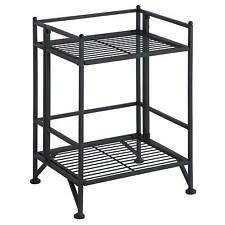 2 Tier Folding Metal Shelf - Convenience Concepts