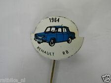 PINS,SPELDJES JAREN 1964 BLUE CLASSIC CARS RENAULT R8 VINTAGE VERY OLD