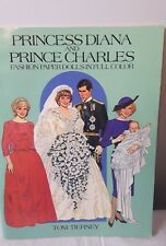 Princess Diana & Prince Charles Fashion Paper Dolls Book Tom Tierney 1985