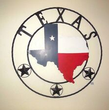"32"" STATE OF TEXAS METAL WALL ART RUSTIC WESTERN HOME WALL DECOR RUSTY ART"