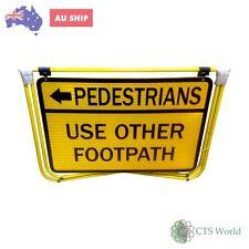 ISGM Telstra Trafficcontrol Sign Pedestrian Arrow Use Other Footpath(600mmx900mm