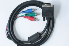 VGA to 3 RCA Component AV Converter Adapter Cable Lead for LCD HDTV Projector