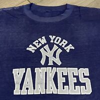 New York Yankees T Shirt Mens Medium Vintage 80s MLB Baseball Thin Soft USA