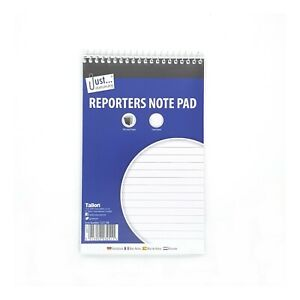 Spiral Bound Reporters Notepad Lined Note Pad Book 160 Pages Just Stationery