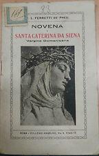 NOVENA A SANTA CATERINA DA SIENA - L. FERRETTI . COLLEGIO ANGELICO - 1925 - M