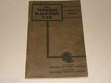 Instrucciones Servicio Manual Owner's Morris Minor Medio Tono Van ( MCV ), 1954