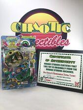 TMNT~1990's~Mini Micro Mutants Michaelangelo Football Playset Turtle Top~SIGNED!