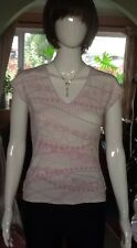 White, Grey And Pink Patterned Top From Next Size 10.