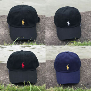 Polo Baseball Cap Embroidery Small Pony Adjustable Hat Pink Yellow Orange Red