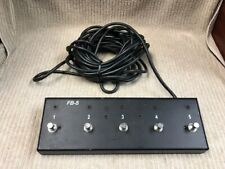 HUGHES & KETTNER 5 BUTTON FOOT SWITCH MODEL: FB-5 9 PIN 30 FT CORD Ships Free!!