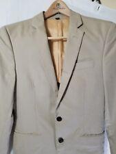J. Crew U.K. Men's Thompson Suit Jacket Chino 38647 Stone 34S Lined 100% Cotton