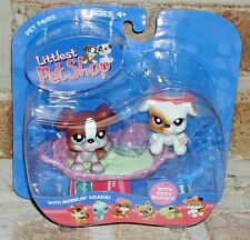 Littlest Pet Shop TWIN BOXER PUPPIES 83 84 basket VHTF 2005