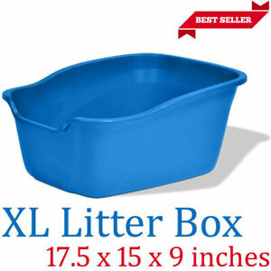 EXTRA LARGE CAT LITTER BOX High Side Big Kitty Pan Home Animal Giant Size Pets