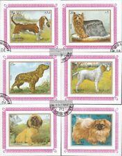 Sharjah Block1270B-Block1275B (kompl.Ausg.) gestempelt 1972 Hunde