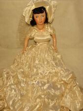 Vintage Boudoir Bedroom Bride Doll Plastic Head & Limbs in White Wedding Dress