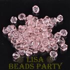 New 100pcs 4mm Bicone Faceted Crystal Glass Loose Spacer Beads Bulk Aqua Red
