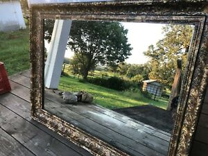 LAST OFFER Large Ornate Antique Mirror Refurbished Really Heavy 30x40x2in