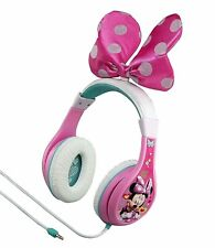 Minnie Mouse Pink Headphones with Child Safety Volume with Bow Disneyland Kids