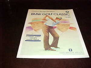 1988 BMW Golf Classic Golf Program Sam Snead Cover Oak Brook Hills