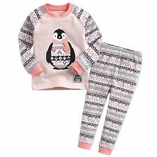 "Vaenait Baby Clothes Toddler Girl Sleepwear Pajama ""Adelie penguin"" S(2T)"