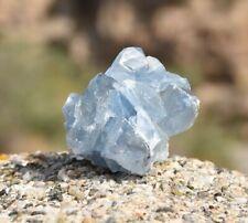 Drusa de Celestina de Madagascar, ejemplar de 113 gramos - Mineral Celestine