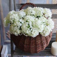 2X White Silk Flower Rose Artificial Hydrangea Wedding Bridal Petal Hexagon