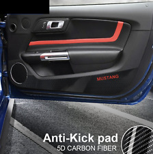 For Ford Mustang 2015-2018  Carbon Fiber Anti-kick pads door card decal cover