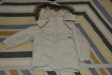 BOYS ORIGINAL TIMBERLAND BEIGE PADDED WINTER PARKA COAT SIZE 4-5-6 YEARS